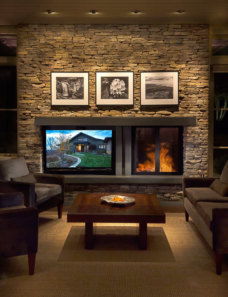 Creating Balance Between A Fireplace And Television