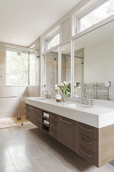 mill spring modern farmhouse bathroom vanity samsel architects - Modern Farmhouse Bathroom