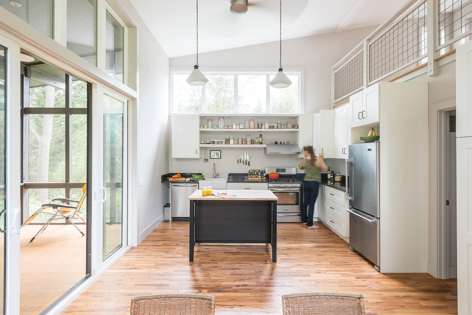 West Asheville Small House Kitchen