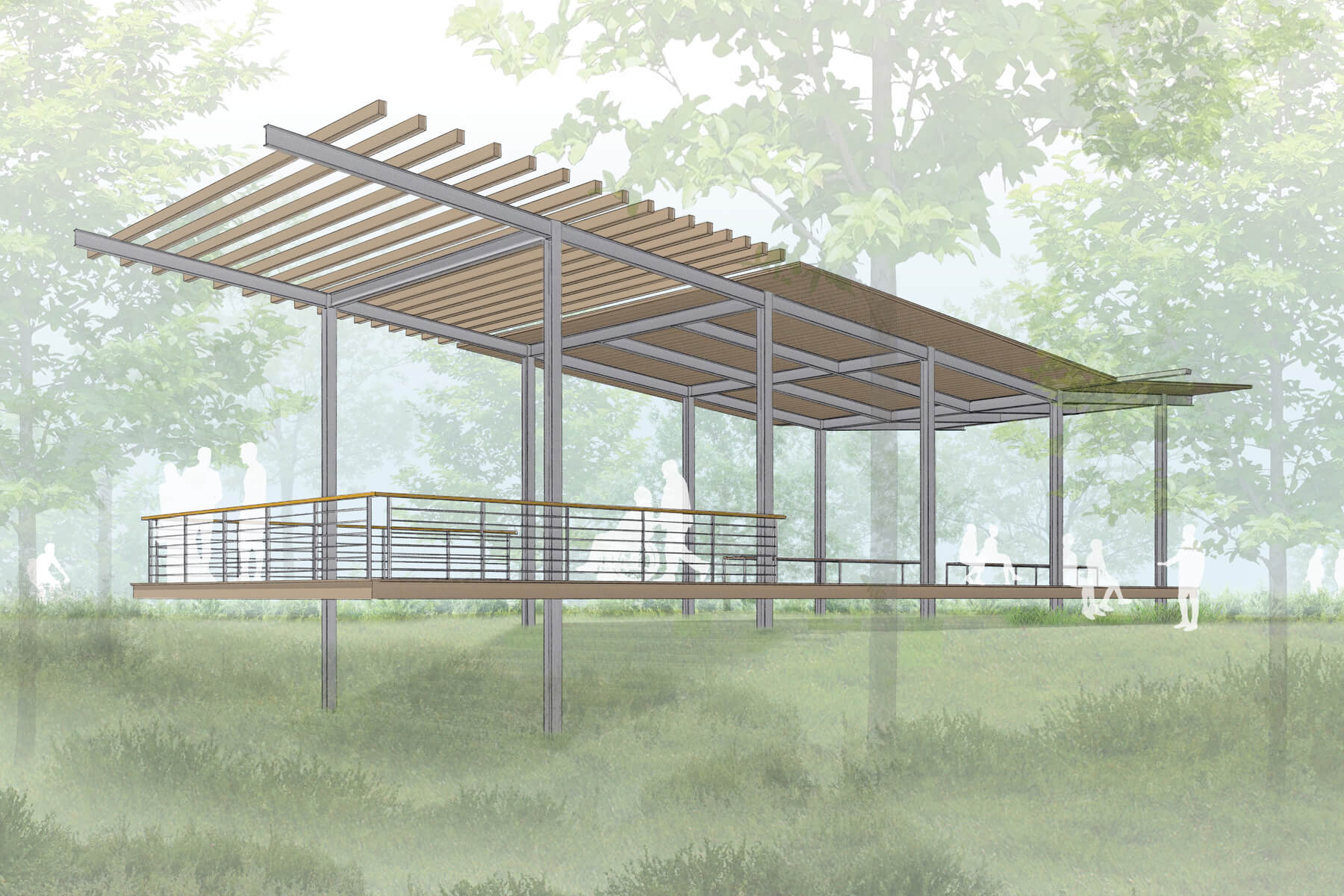 Riverlink Park architectural build in WNC by Samsel Architects