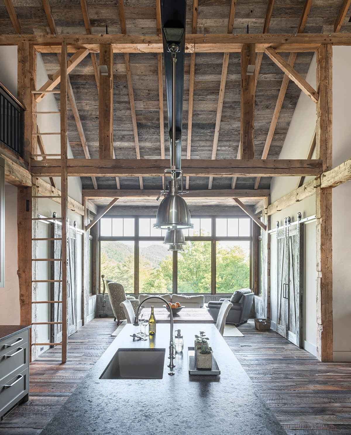 The Beaucatcher timber barn architectural build