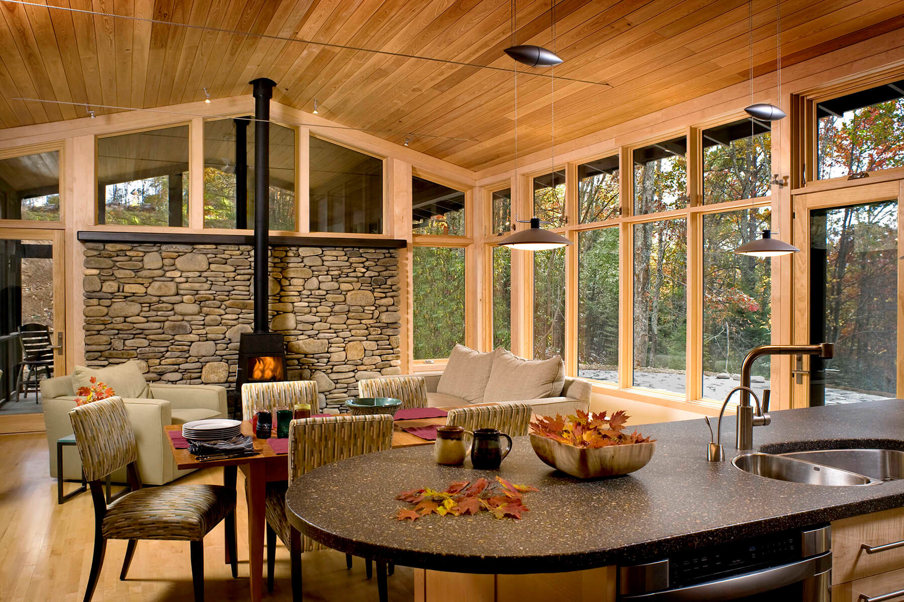 The Celo Residence, a modern and brightly lit architectural design and build in NC