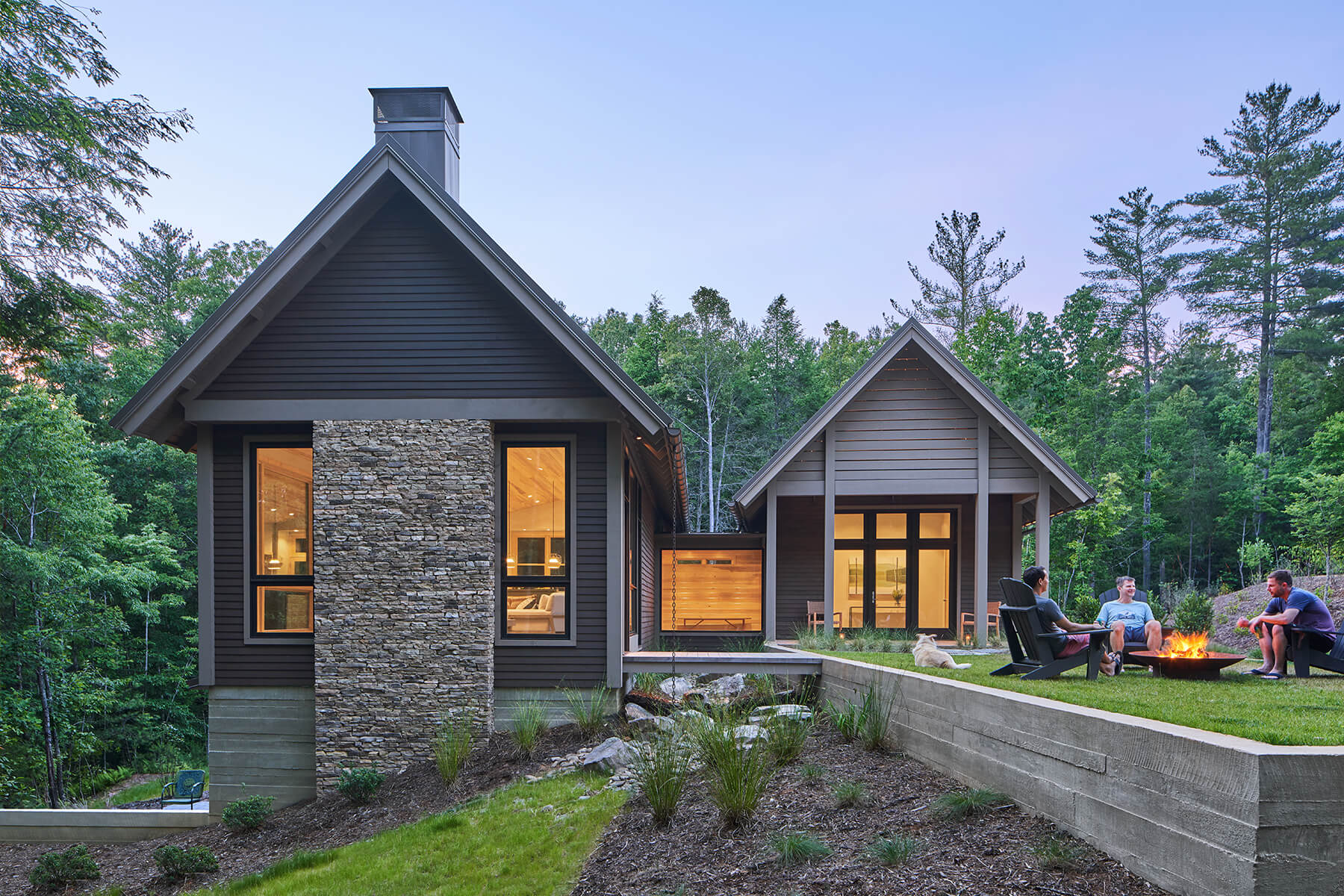 The Camp Campos home exterior architectural home design in Western North Carolina