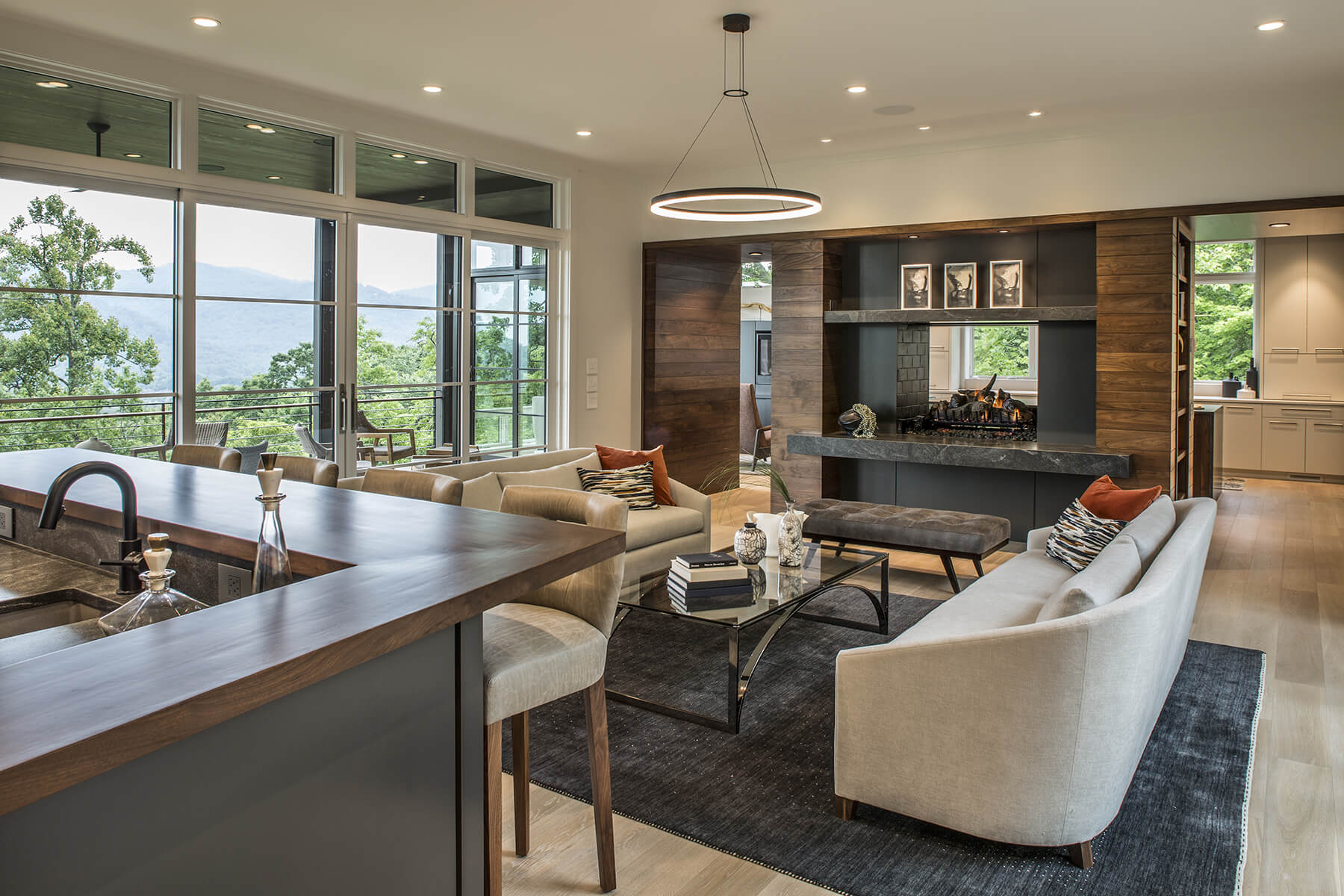 The Walnut Cove Hideaway home architectural design at The Cliffs