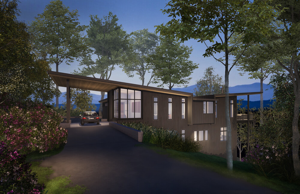 Modern Montreat Residence Rendering Front