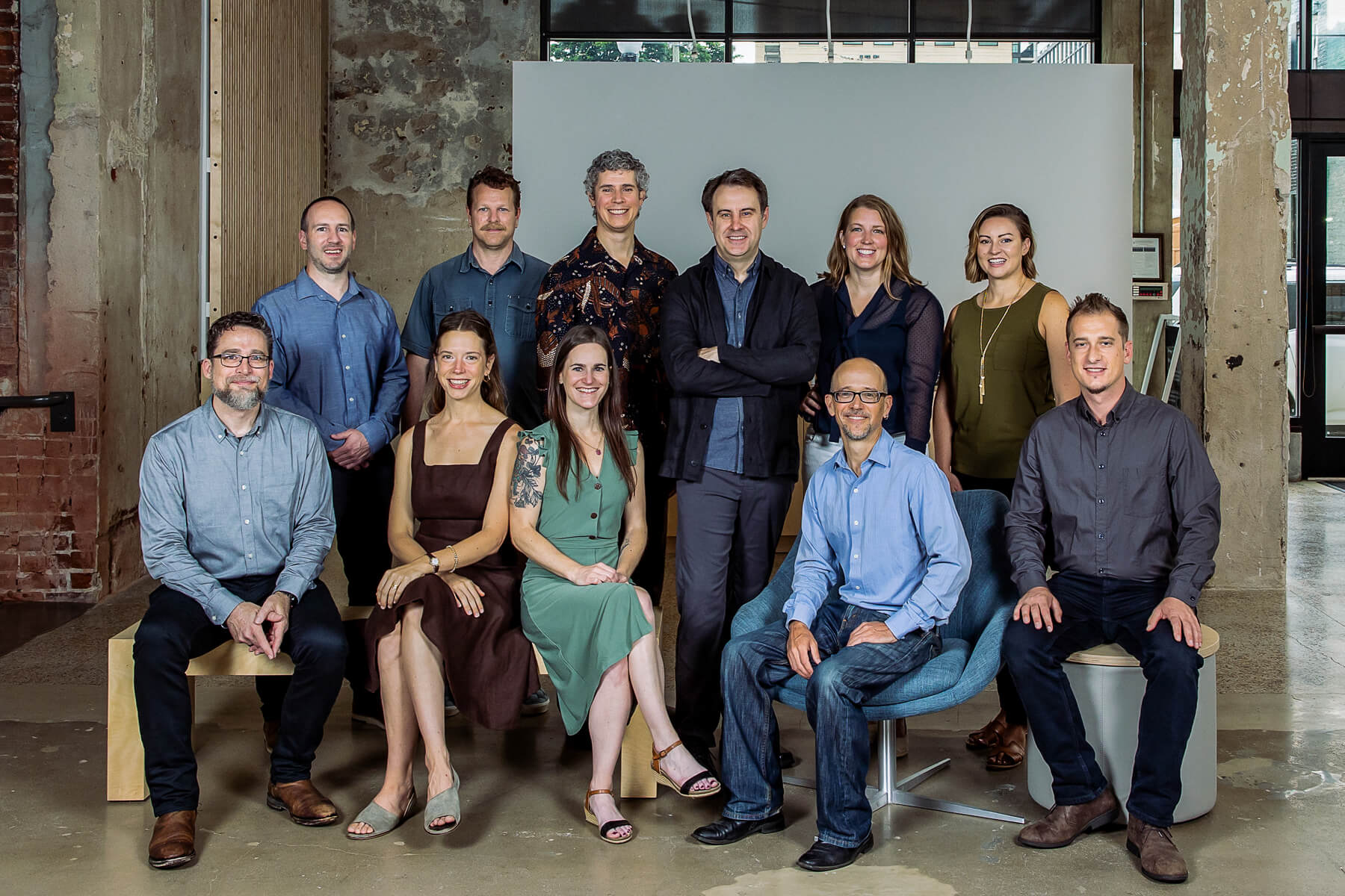 The entire staff at Samsel Architects in Asheville, NC